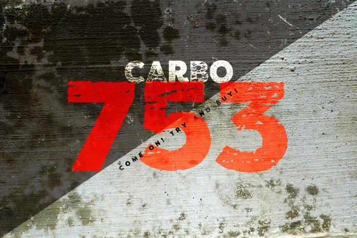 vtks carbo 753 Font poster