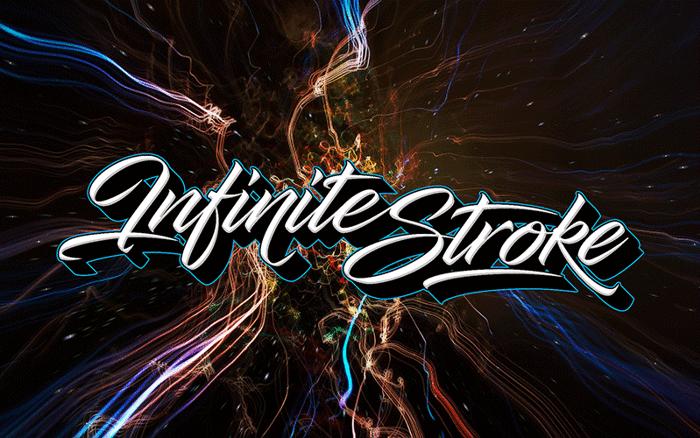 Infinite Stroke Font poster