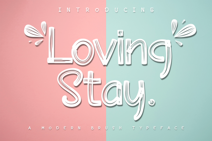 Loving Stay Font poster