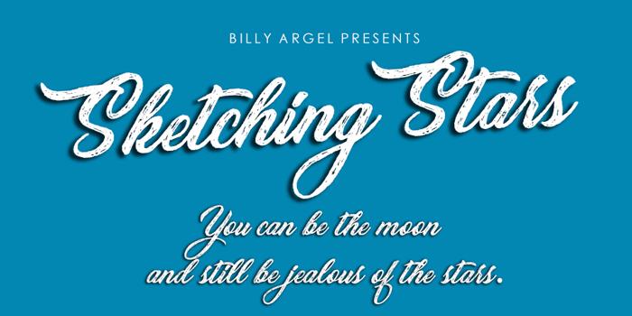 Sketching Stars Font poster