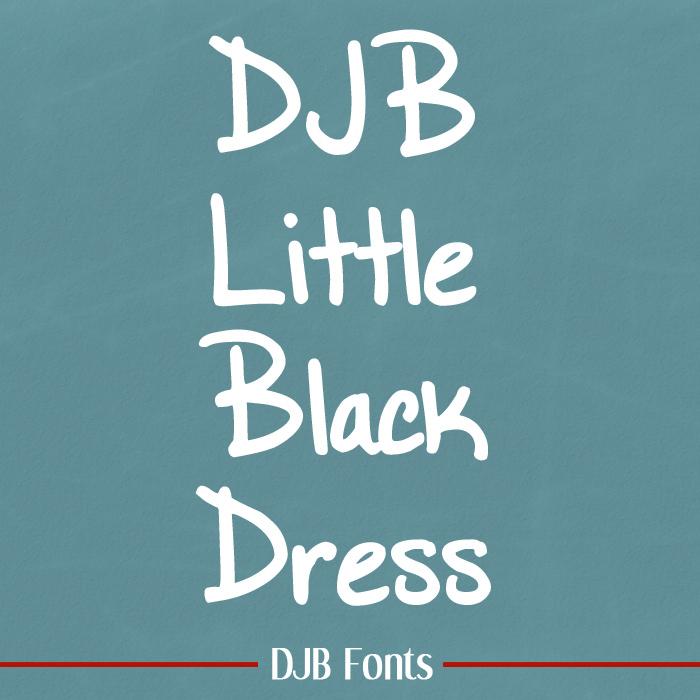 DJB Little Black Dress Font poster