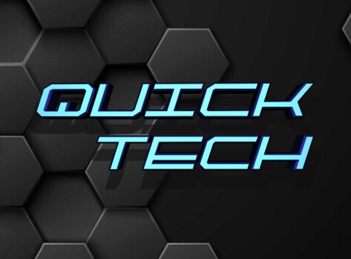 QuickTech Font poster