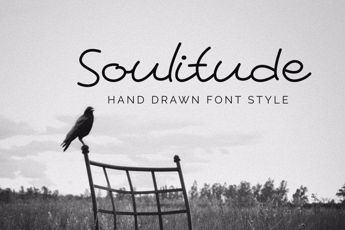 Soulitude Font poster