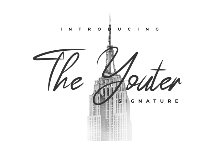 The Youther Font poster