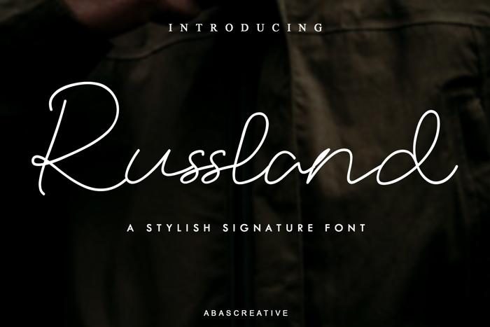 Russland Font poster
