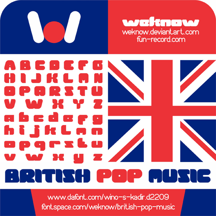 British pop Music Font poster