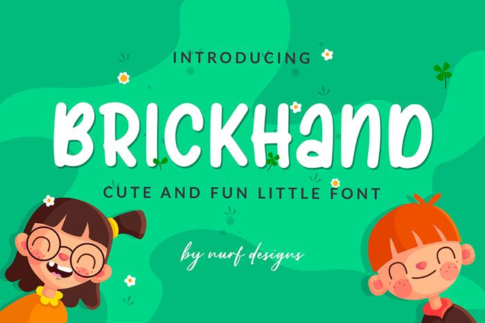 Brickhand Font poster