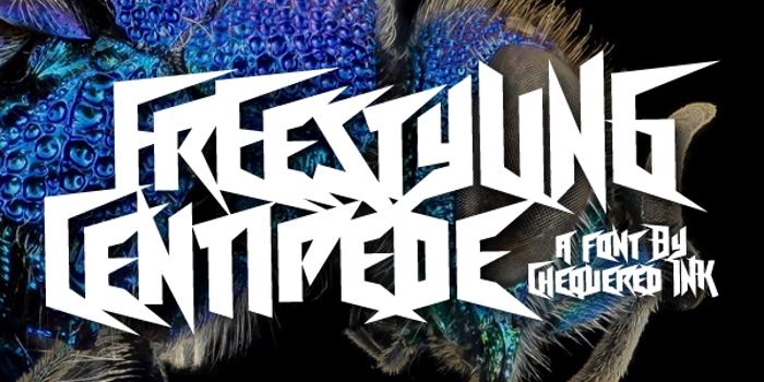 Freestyling Centipede Font poster