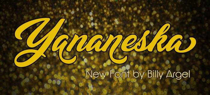 Yananeska Font poster