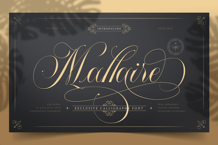 Mallaire Calligraphy Font poster