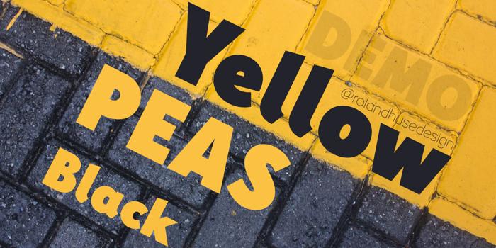 Yellow Peas Demo Black Font poster