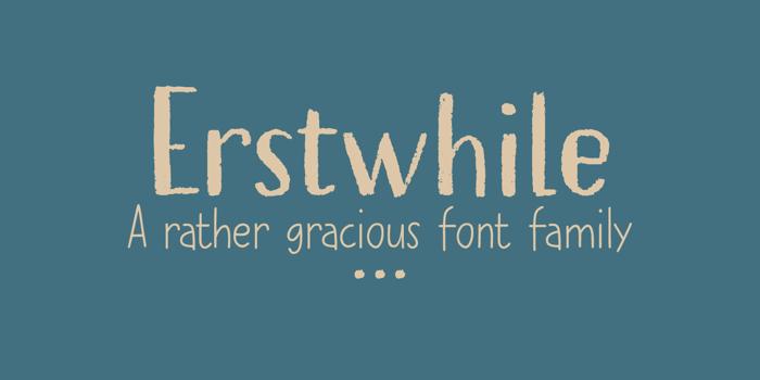 Erstwhile (Demo) Font