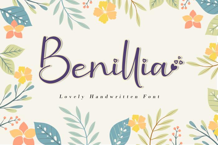 Benillia Font poster