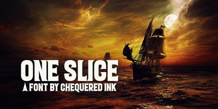 One Slice Font poster