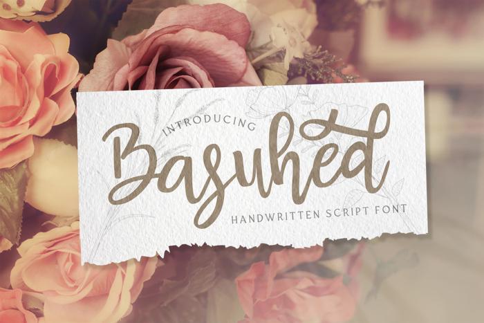 Basuhed Font poster