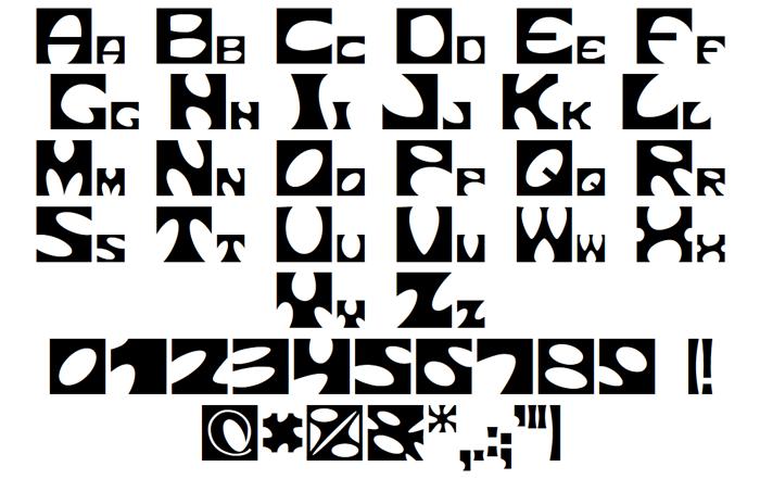 Square circle Font poster