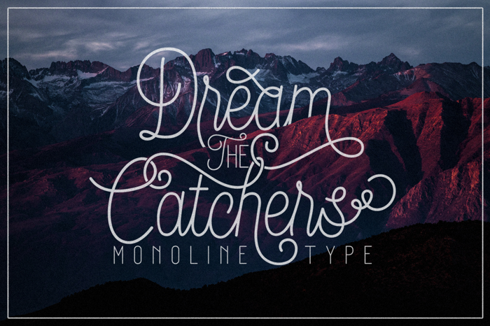 Dream Catchers Font poster