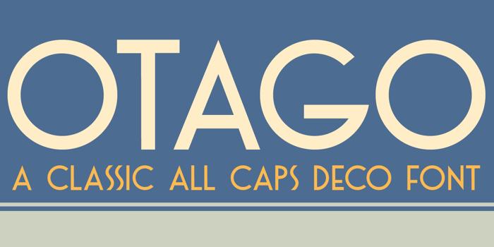 DK Otago Font poster