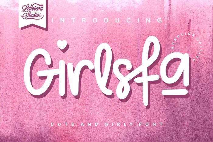 Girlsfa Font poster