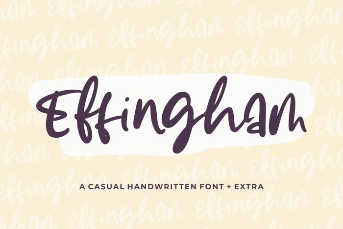 Effingham Font poster