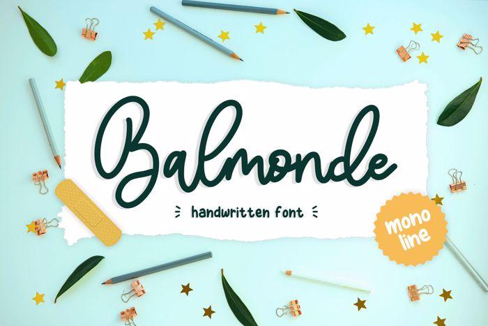 Balmonde Font poster
