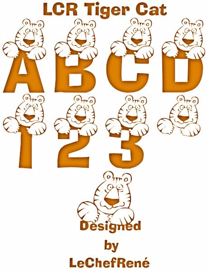 LCR Tiger Cat Font poster