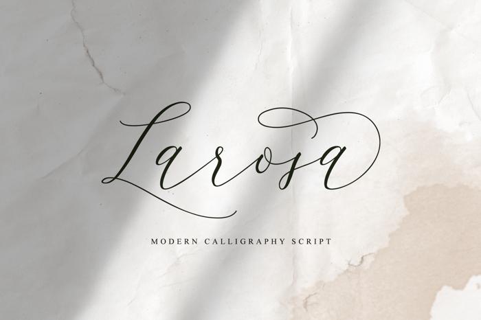 Larosa Font poster