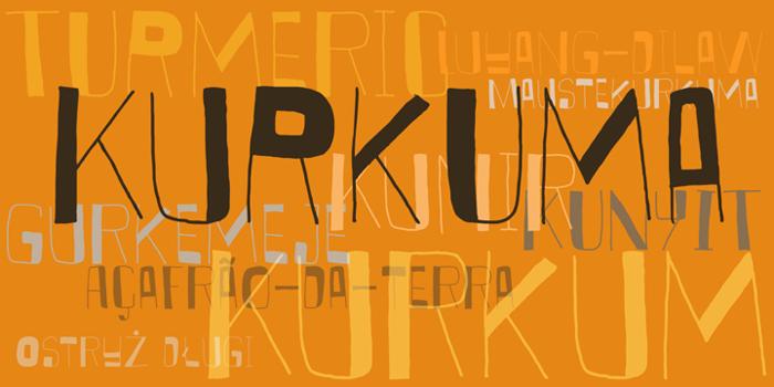DK Kurkuma Font