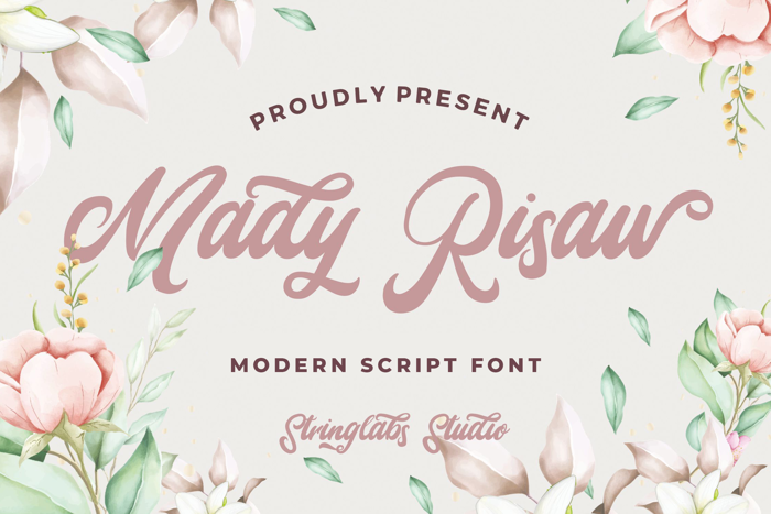 Mady Risaw Font poster