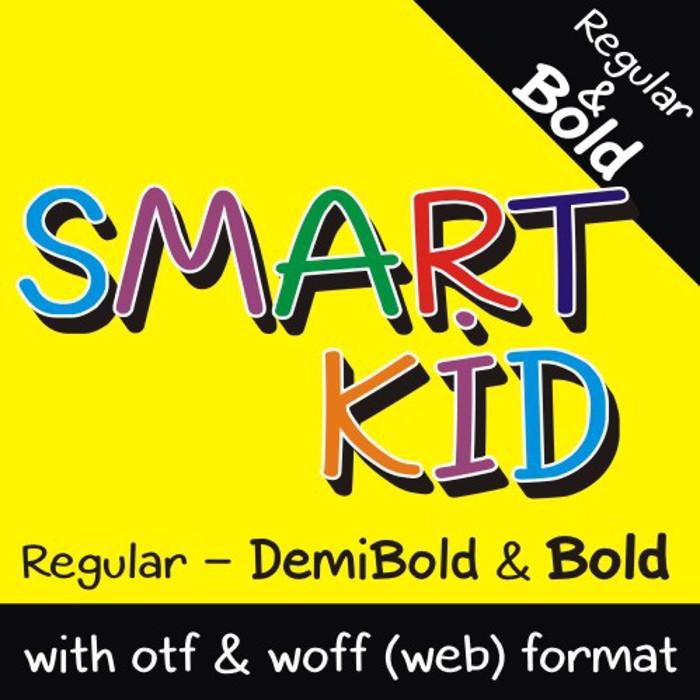 Smart Kid Font poster