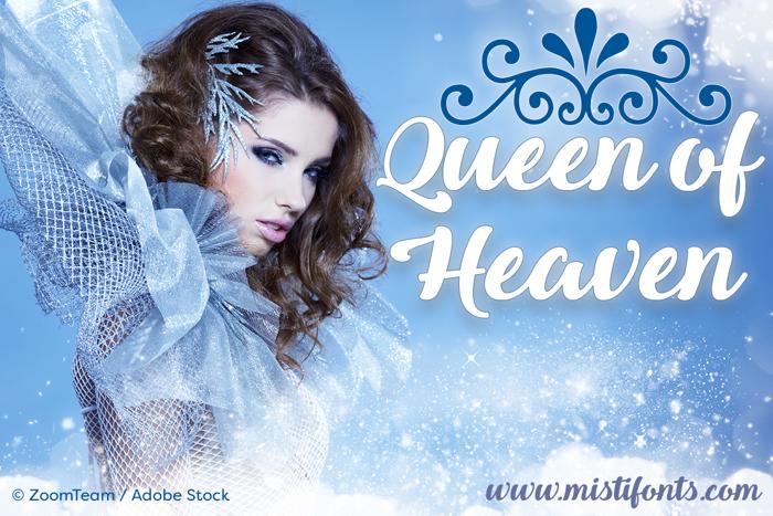 Queen of Heaven Font poster
