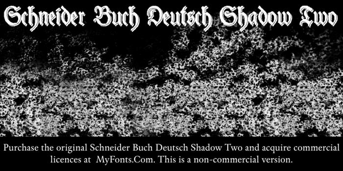 Schneider Buch Deutsch Shadow T Font poster