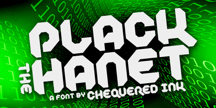 Plack the Hanet Font poster