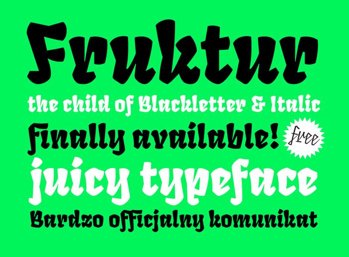 Fruktur Font poster