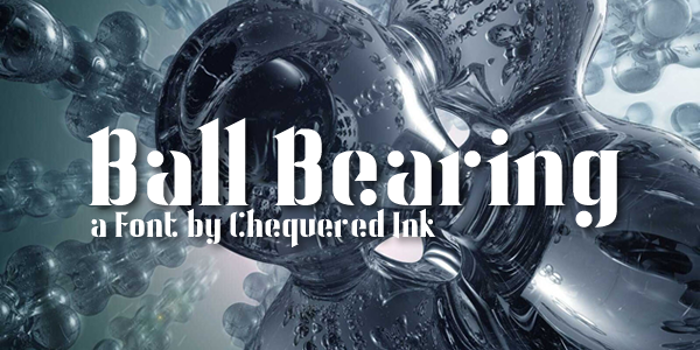 Ball Bearing Font poster