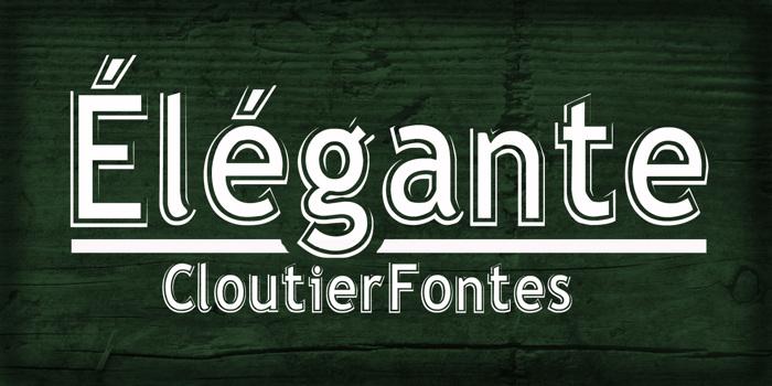Elegante Regular Font poster
