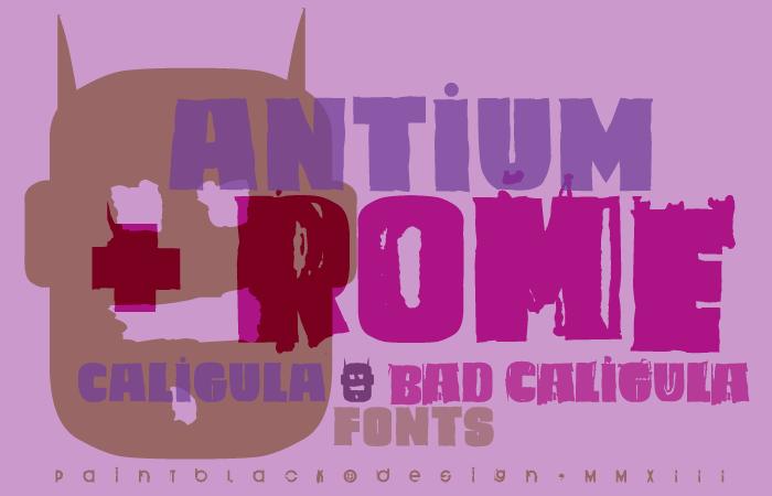 Caligula Font poster