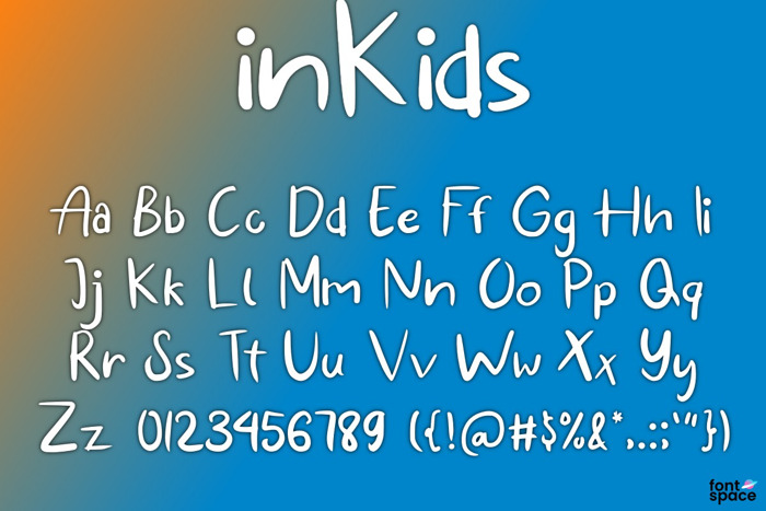 in Kids Font poster