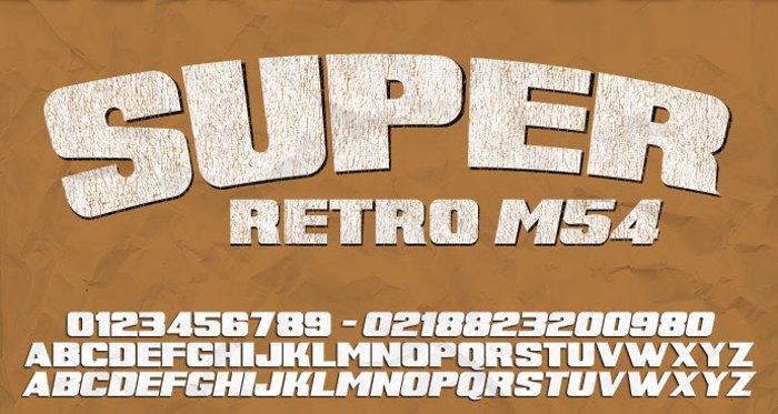 Super Retro M54 Font poster