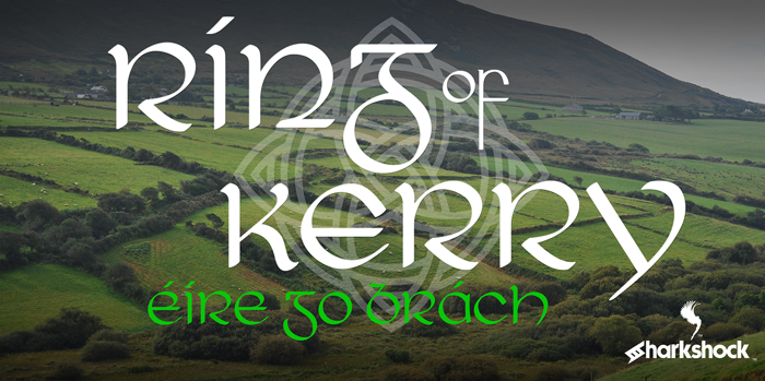 Ring of Kerry Font poster