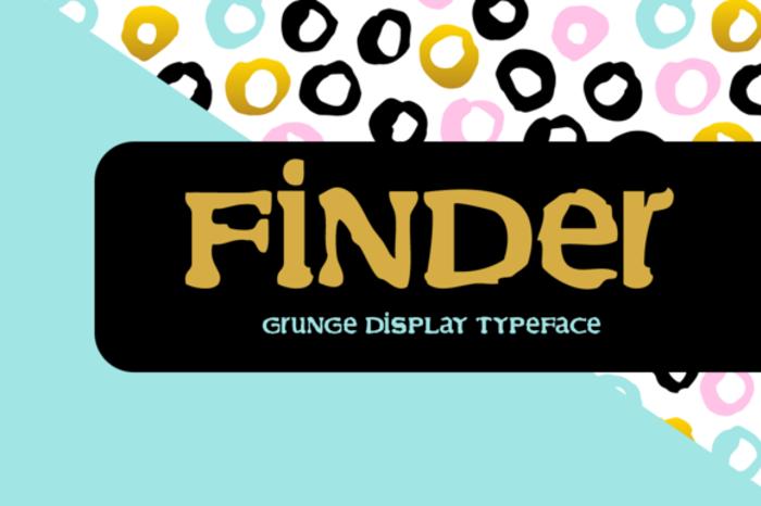 Finder Font poster