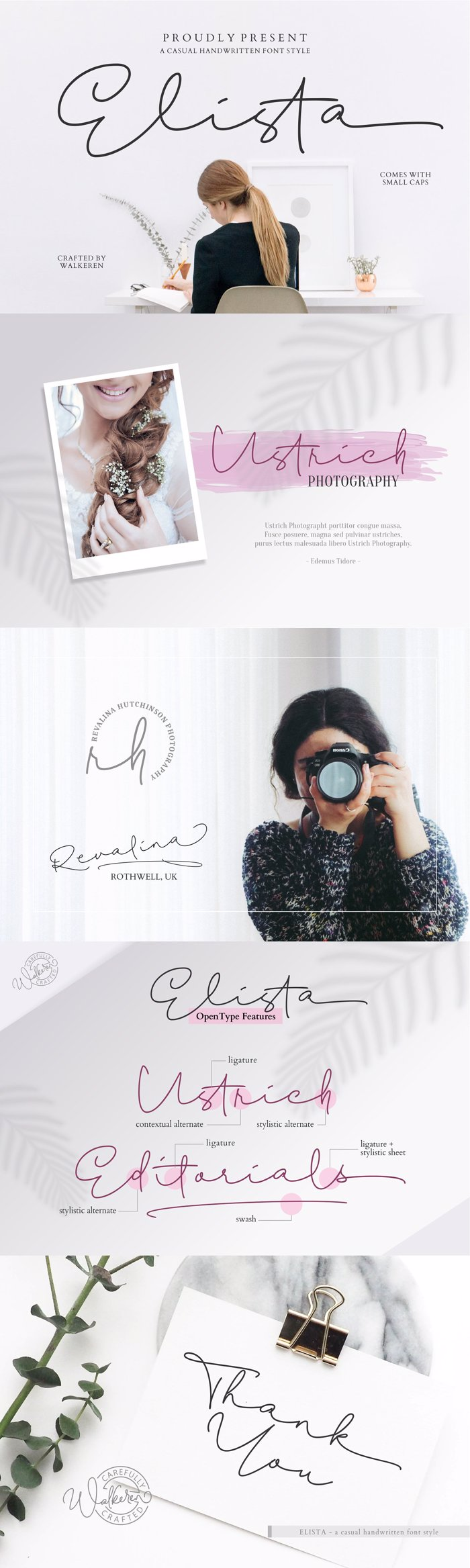 Elista Font poster