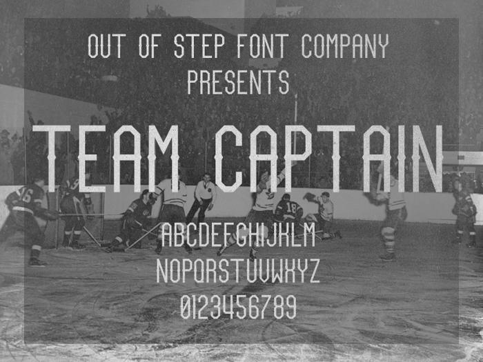Team Captain Font poster