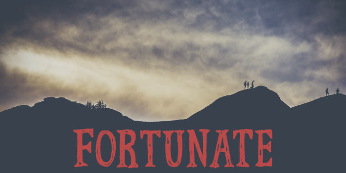 Fortunate DEMO Font poster