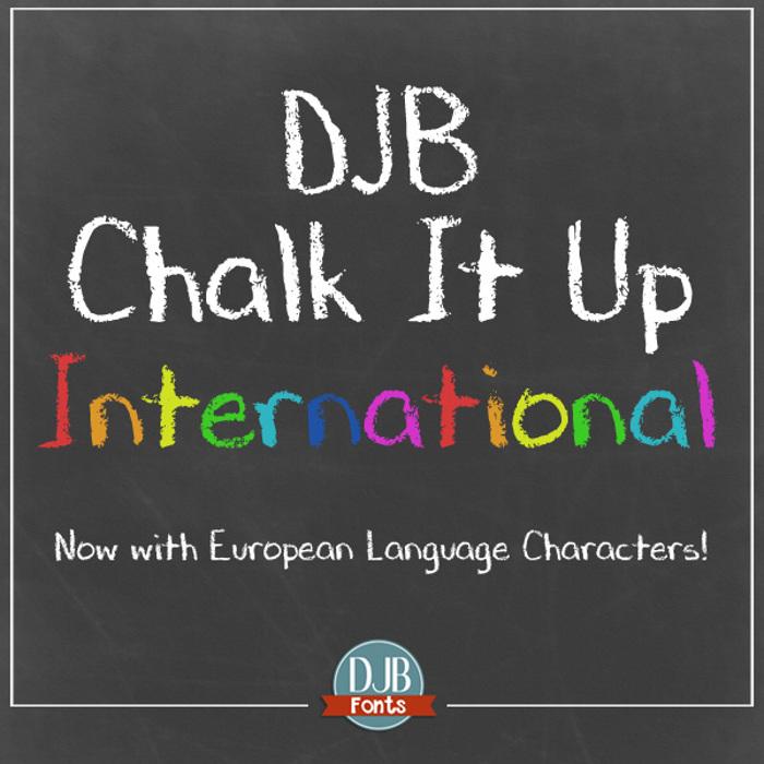 DJB CHALK IT UP Font poster
