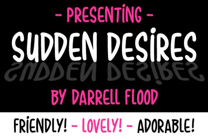 Sudden Desires Font poster