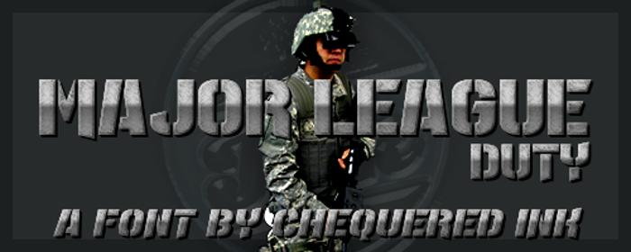 Major League Duty poster