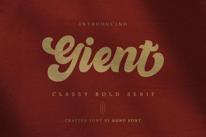 Gient Font poster