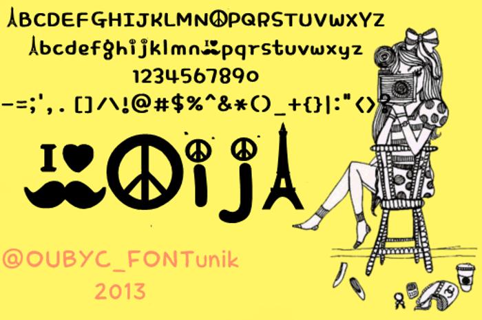 peace mustache  Font poster