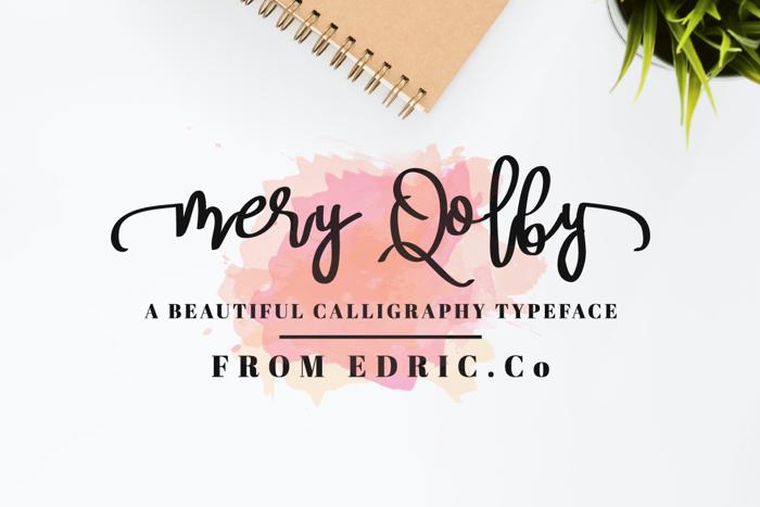 Mery Qolby Font poster